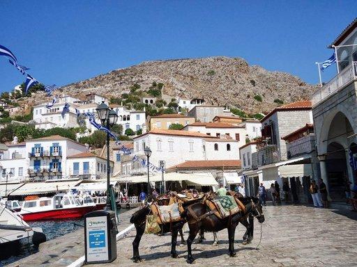 Hydran saarella aasit toimittavat autojen virkaa.