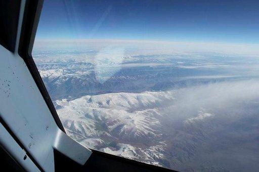 Kaukana kottikenttä, alla Venäjän ja Mongolian vuoret.