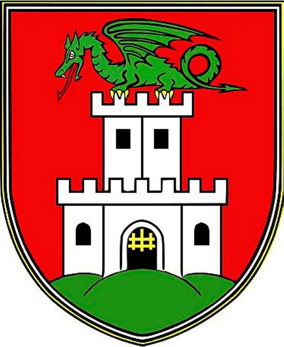 Ljubljanan kaupungin vaakuna.