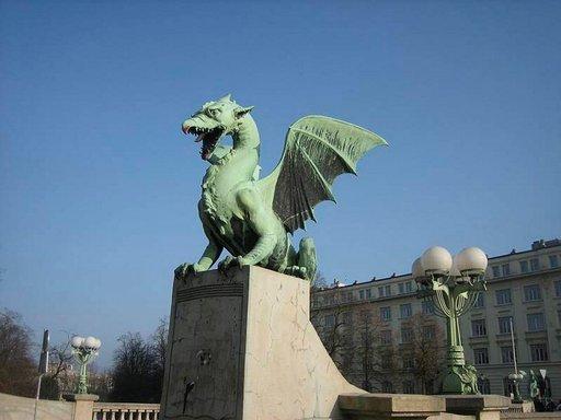 Ljubljanan symboli on lohikäärme.