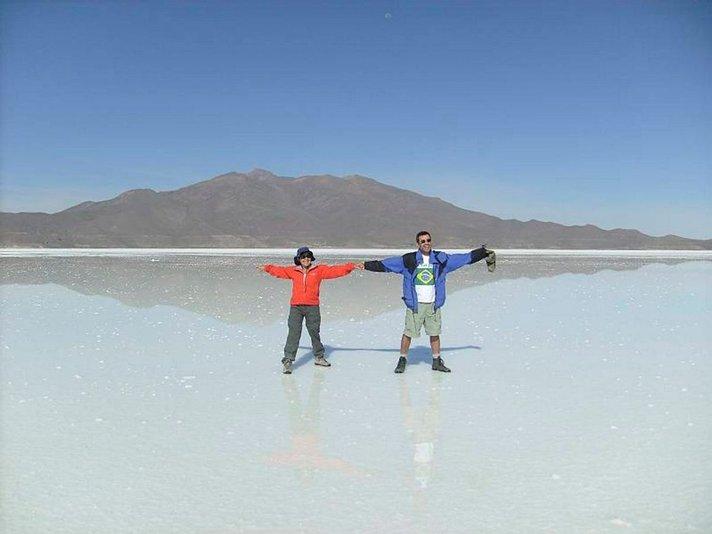 Maailman suurimmalla suola-aavikolla Boliviassa