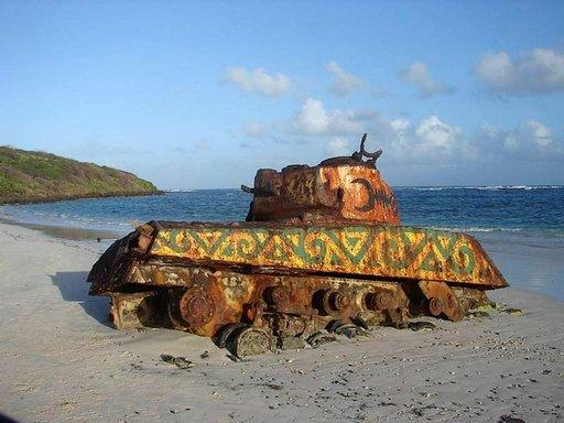 Flamenco Beachin panssarivaunu.
