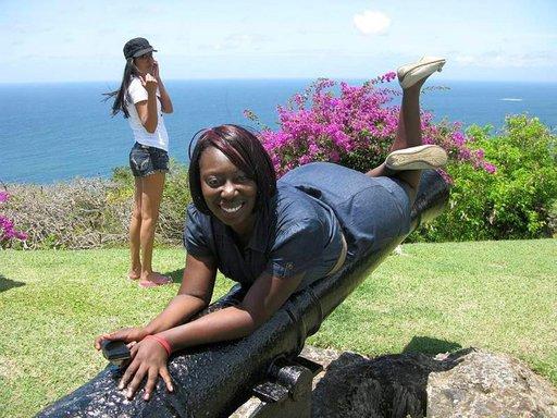 Museon mäeltä avautuu panoraama Karibianmerelle.