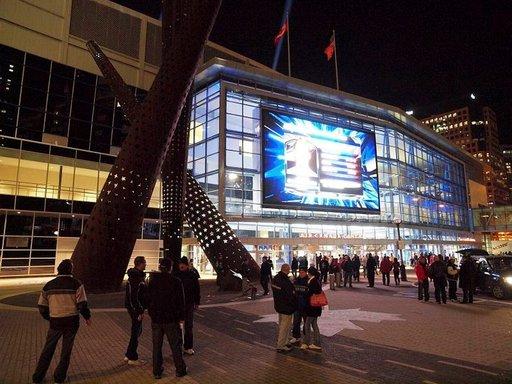Air Canada Centre on näyttävä urheilu- ja konserttipaikka.