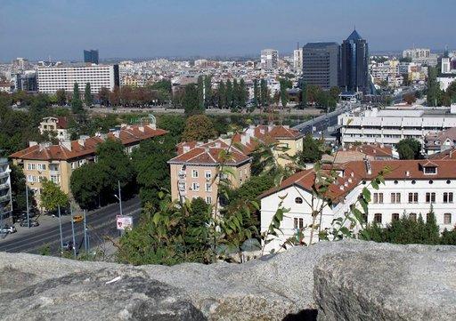 Kukkulalle rakennetun Vanhankaupungin linnoituksen muureilta on upea näköala nykyiseen Plovdiviin, Bulgarian toiseksi suurimpaan kaupunkiin.