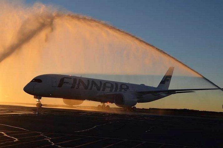 Finnairin uusi Airbus A350 vie Aasiaan