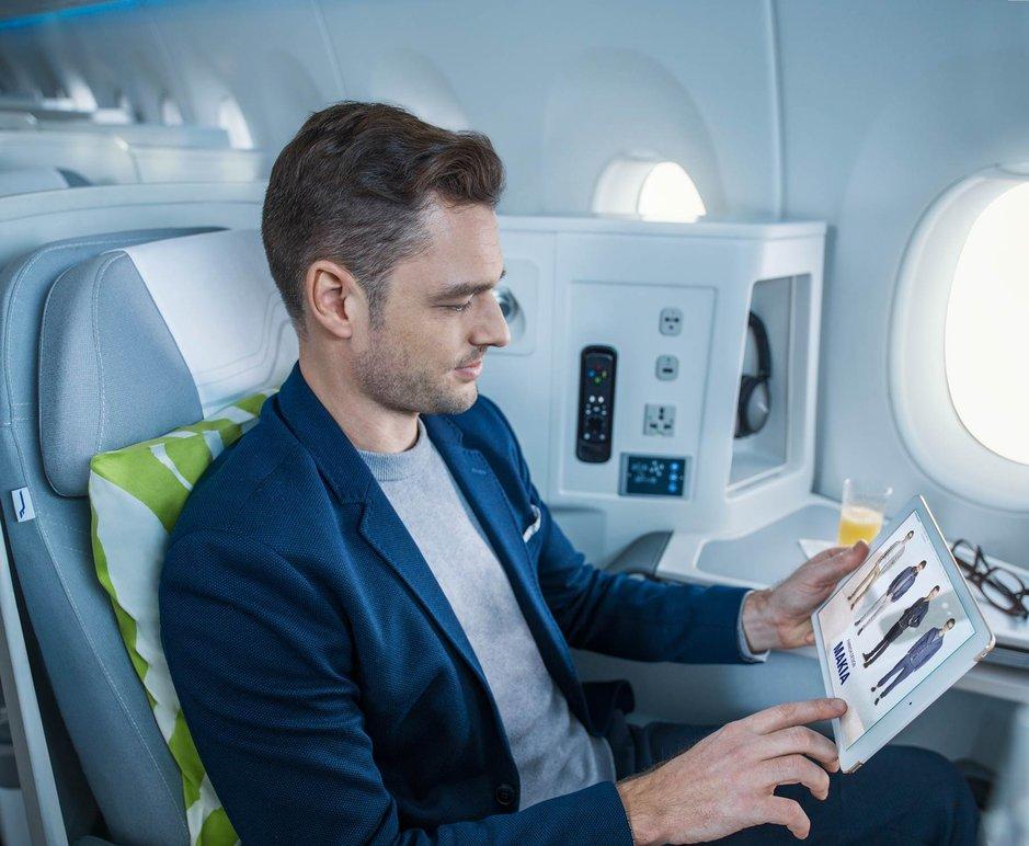 Finnair avaa vaatekaupan<br /> ja nettiyhteyksiä lennoille