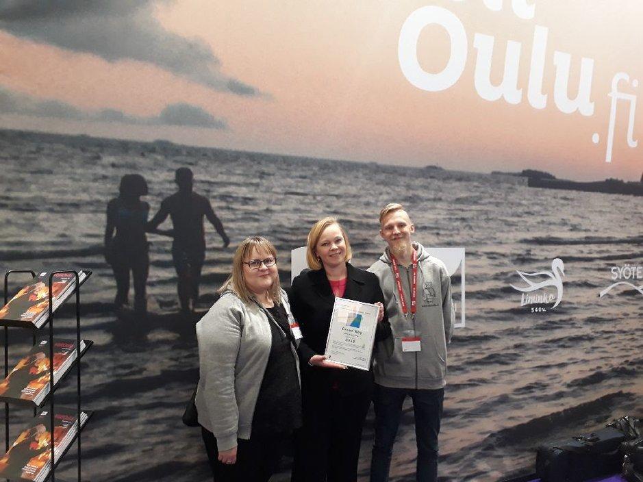 Oulun Nallikarille<br /> laatusertifikaatti