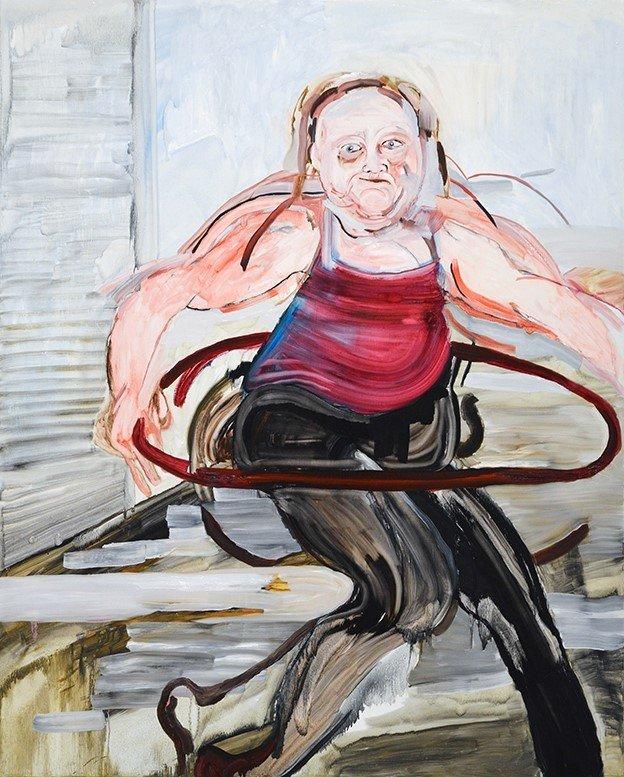 Susanna Vuorio: Hula hula, öljy mdf-levylle, 152 cm x 122 cm, 2020