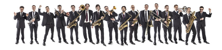 UMO Helsinki ja Jazz Orchestra<br /> kes&auml;n ty&ouml;v&auml;enlaulukonserttiin