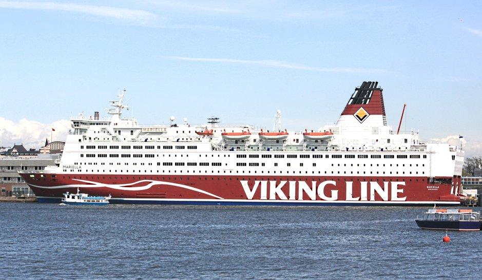 Uudistunut m/s Mariella Helsingen satamassa