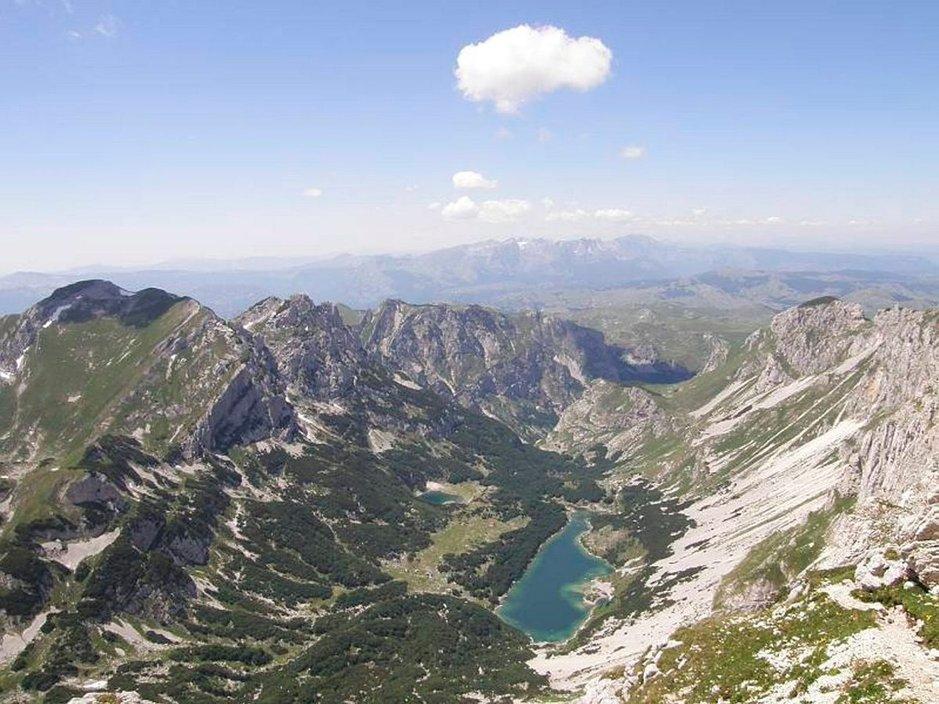 Upeat näkymät Montenegron korkeimmalta vuorelta.