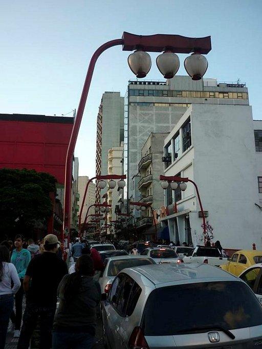 Katunäkymä Liberdaden alueelta.