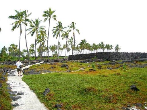 Pu'uhonua o Honaunaun kansallispuisto sijaitsee havaijilaisten pyhällä maalla.