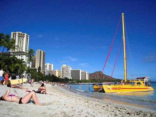 Maailmankuulu Waikiki Beach on maineensa veroinen.