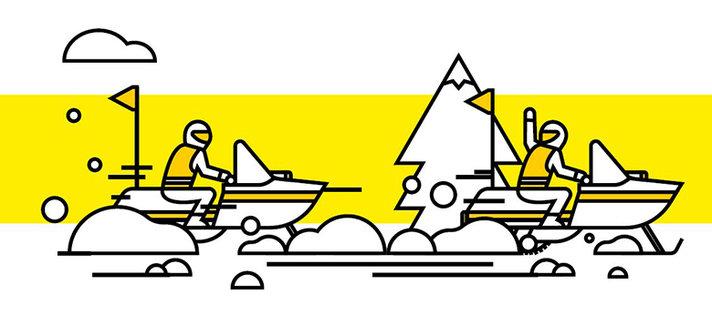 Moottorikelkkasafareille<br /> turvallisuusohjeet