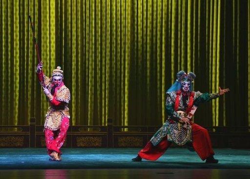 """Kiinalainen uusivuosi, Peking-oopperaesitys """"Apinakuningas""""."""