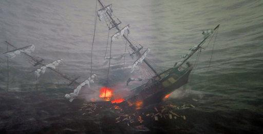 Ruotsinsalmi-näyttelyn kohokohta on elävä esitys taistelujen melskeistä.