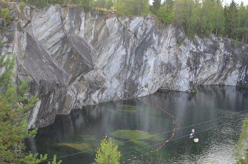 Ruskealan marmorilouhos Sortavalassa on suosittu turistikohde.