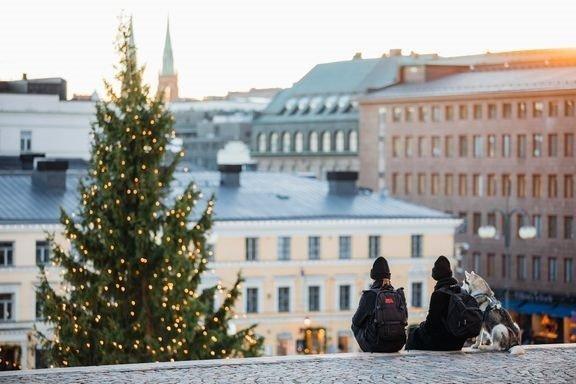 Tuomaan markkinat on suurimpia jouluajan tapahtumia Helsingissä. - Kuva Jussi Hellsten.