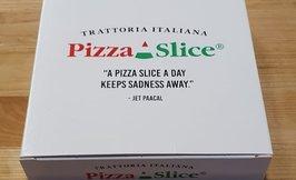 Pizza Slice -kotelo (15x15x3,5cm)