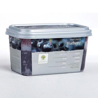 Multicatering Ravifruit mustikkapyree 90% 1kg pikapastöroitu pakaste