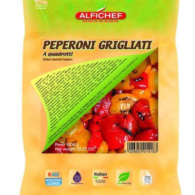 Multicatering Alfi Grillattu paprikapalasekoitus 6x1kg öljyssä pussisäilyke