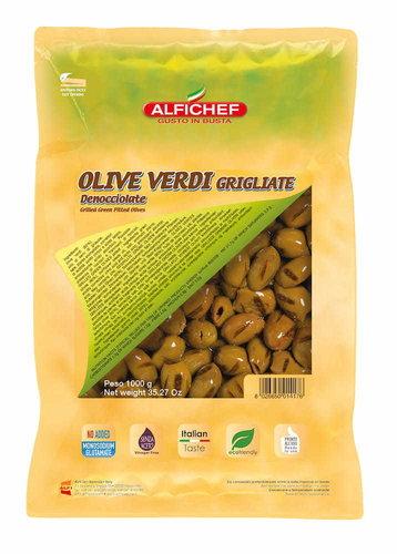 Alfichef Grillattu vihreä oliivi kivetön #1