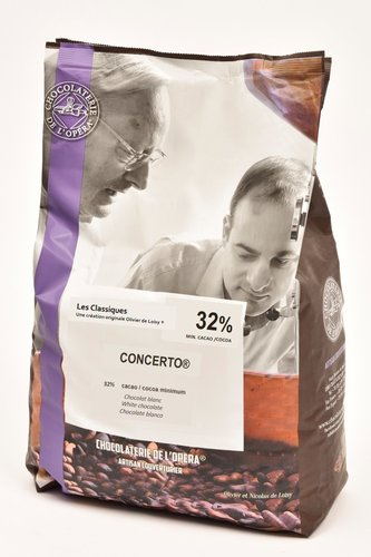 l'Opera CONCERTO valkosuklaa 32%, 2x5kg #1