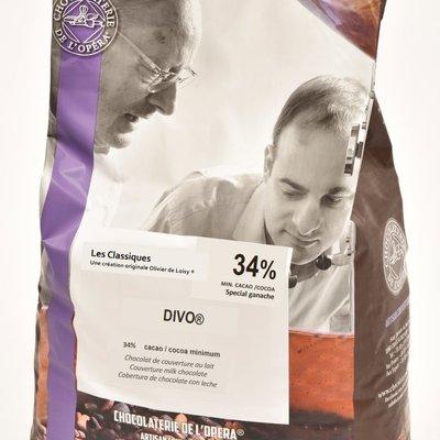 Multicatering Chocolaterie de l'Opera Divo maitosuklaa 40% 5kg