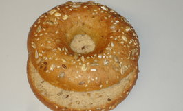 Low carb bagel 75g, halkaistu, V