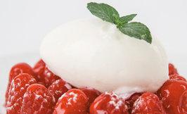 Mozzarella-gelato & vadelmia