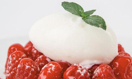 Mozzarella-gelato & vadelmia #1