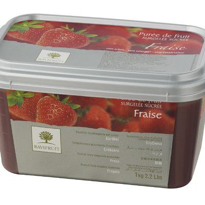 Multicatering Ravifruit mansikkapyree 90% 1kg pakaste
