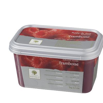 Multicatering Ravifruit vadelmapyree 90% 1kg pakaste