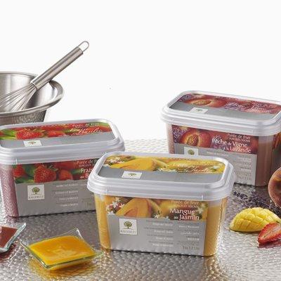 Multicatering Ravifruit punaherukkapyree 90% 1kg pakaste