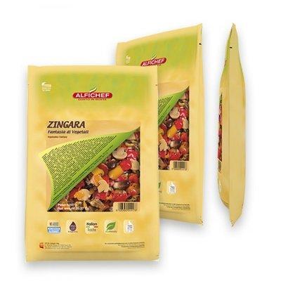 Multicatering Alfi Zingara kasvissekoitus 6x1kg/800g öljyssä, pussisäilyke