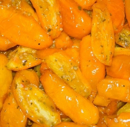Puolikuiva keltainen tomaatti 1000/800g, säilykepussi #1
