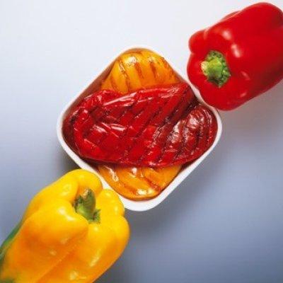 Multicatering Ista grillattu paprika 1,85/1,48kg öljyssä  säilykepussi