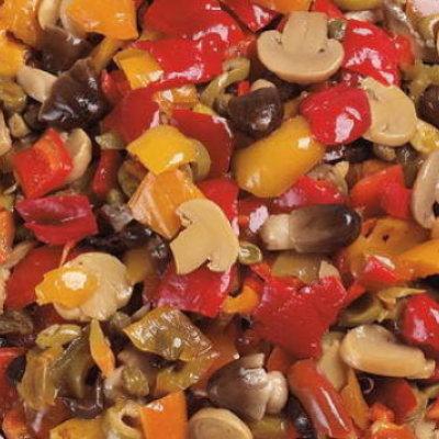 Multicatering Alfi Zingara kasvissekoitus 1kg/800g öljyssä pussisäilyke