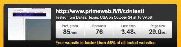 Nopeat nettisivut sisällön jakeluverkoston ansiosta
