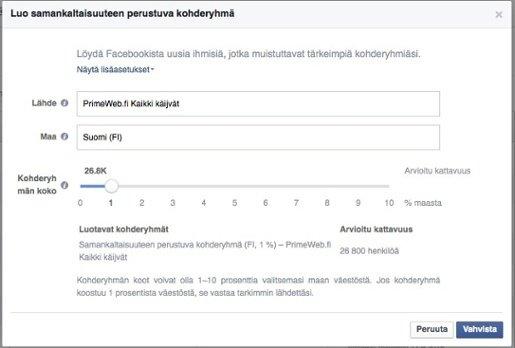 Miten Facebook Mainonta Toimii Kaksoisolentokohderyhmillä: Kuva #3