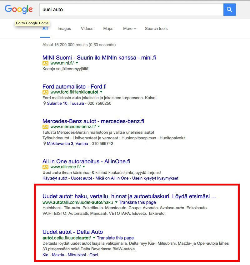 Miten Saada Kotisivut Näkymään Googlessa?: Kuva #2