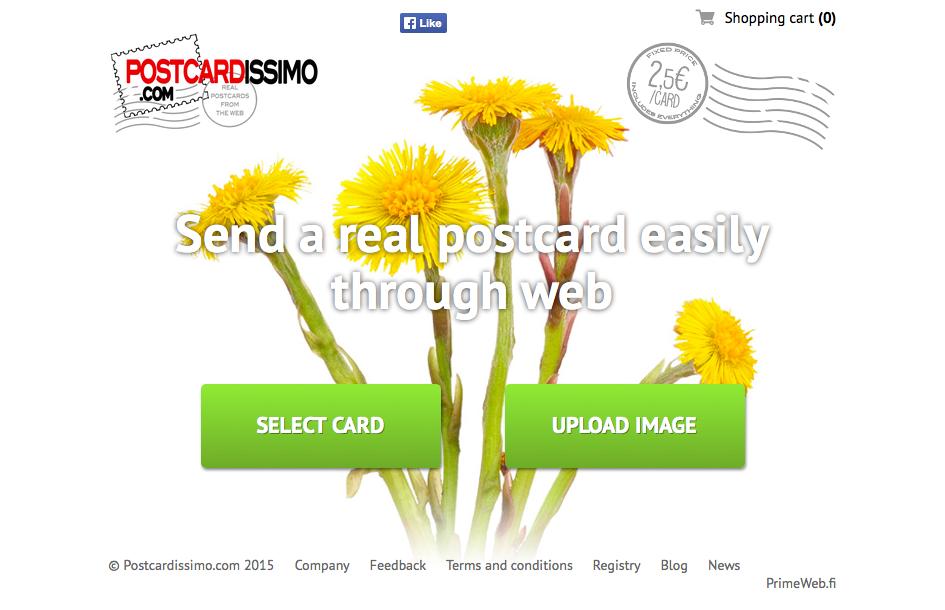 Bravissimo! Postcardissimo.com (LahetaKortti.com) Lähtee Valloittamaan Maailmaa PrimeWebin Kanssa