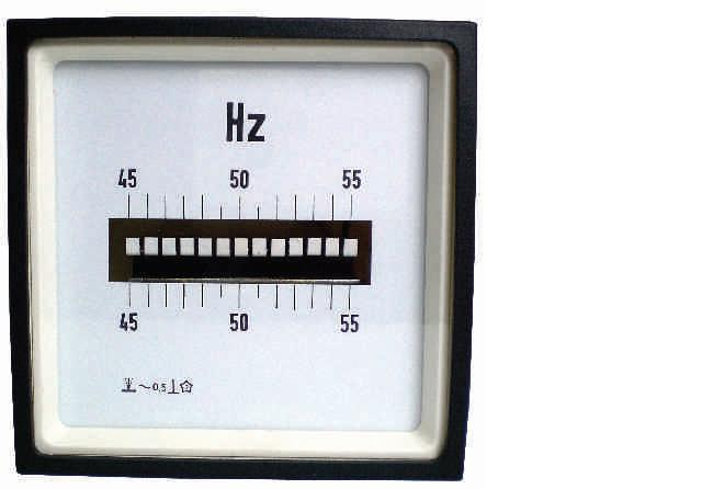 Panel Mount Frequency Counter : F n analog panel meter vibrating reed frequency