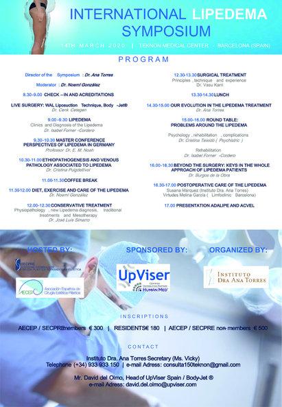 Lipödem Symposium 14/3/2020 Barcelona